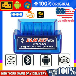 Mini Elm327 Bluetooth V1 5 Obd2 Auto Diagnostic Tool Scanners For Android Torque