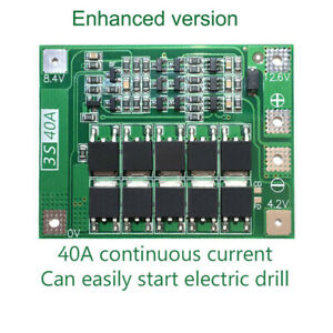Lithium Battery Charger Module Protection Pcb Board 3s 40a 12 6v For Drill Motor