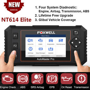 Foxwell Nt614elite Auto Abs Srs Engine Transmission Diagnostic Tool Code Reader