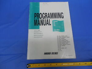 Mori Seiki Machine Cnc Mill Programming Manual Pm nltmsc518 Sl Sl s Tl Vl Ll