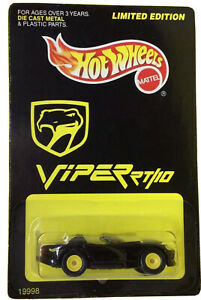 1997 Hot Wheels Viper Rt 10 Limited Edition 19998 Real Rider Tires