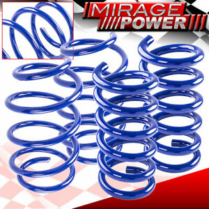 Racing Lowering Springs Blue 1 Inch Front Rear For 2015 2020 Ford Mustang