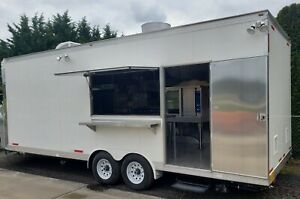 Custom 8 5 X 24 Enclosed Food Vending Mobile Kitchen Catering Events Trailer