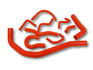 For Civic 88 91 Crx cr x D15 D16 Ee Ed Red Silicone Coolant Radiator Hose Kit