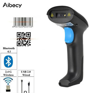 3in1 Bt 2 4g Wireless Usb Wired Barcode Scanner 1d 2d Android Ios Pc Laptop P2t9