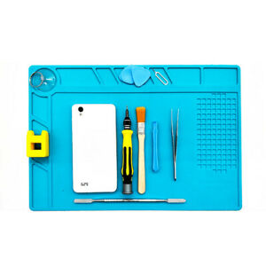 Heat Resistant Work Pad Mat Multi function Soldering Station Insulated Silicone