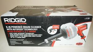New Ridgid 35473 K 45af Sink Drain Cleaning Machine W c 1 5 16 Inch Inner Cable