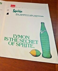Coca Cola 1970s Lymon Sprite Press Kit Folder Fact Sheet TV Storyboards & More