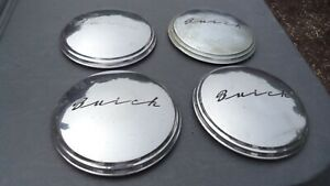 1940 S 1950 S Buick Hubcaps 11 Inch Dog Dish Set Of Four Script Writing