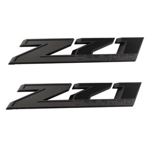 2pc Oem 10 Inch Big Z71 Off Road Emblem Badges Matte Black For Silverado 2500hd
