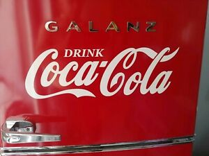 Coca-Cola decal sticker 24inch WHITE coke *easily applied* Buy 2, get 3rd free
