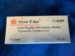Sakura Finetek Accu Edge 4685 Low Profile Microtome Blades Box Of 50 Blades