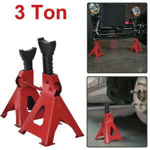 2 Pc 17in High Lift Car Jack Stands Vehicle Support Garage 3 Ton Auto Tool Set