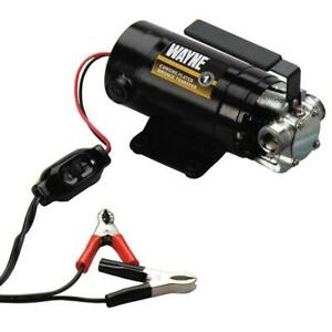 Wayne Portable Battery Powered Transfer Water Pump 12 Volt Non Submersible Metal