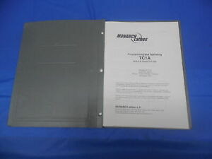 Monarch Lathes Tc1a G e Fanuc 21t Cnc Programming And Operating Manual Book
