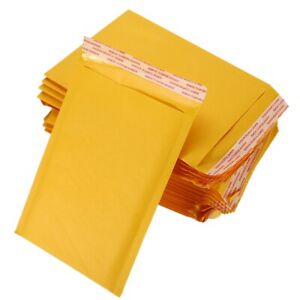 25 50 100 Any Size Kraft Bubble Mailers Self Seal Padded Shipping Envelope Bags