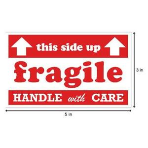 Fragile This Side Up Stickers With Up Arrows 3 X 5 Inch 300 Stickers Per Roll