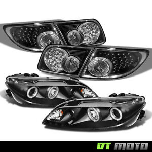 2003 2006 Mazda 6 Black Drl Projector Headlights Black Led Tail Lights