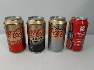 Lot of 4 Coca Cola London Olympic Games Money Boxes