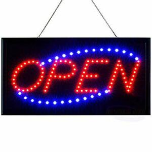Animated Motion Running Led Business Open Sign 19 x10 Neon On off Switch