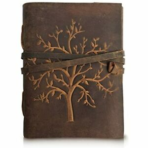 Leather Journal Tree Of Life Writing Notebook Handmade Bound Daily Notepads 8