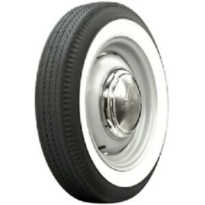 15 American Classic Tire Style 2 Inch White Side Wall Oval Rubber 4 Pieces