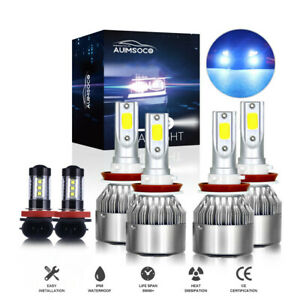For Nissan Altima Sedan 2007 2019 Car Led Headlights 6 Bulbs H11 Kit Fog Light
