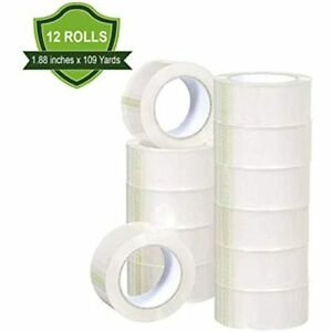 Kingtac 12 Rolls Clear Packing Tape 1 88 39 39 X 110 Yards Shipping Ultra high