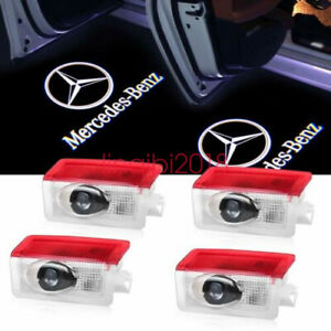 4x Led Door Courtesy Logo Light Ghost Shadow Laser Projector For Mercedes Benz