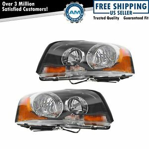 Halogen Headlights Headlamps Left Right Pair Set Of 2 For 03 13 Volvo Xc90