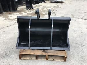New 36 Excavator Clean Up Bucket For A Takeuchi Tb250 W Coupler Pins