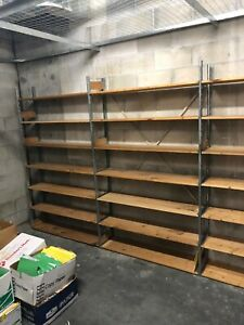 Backroom Lozier S Shelving 10 X 3 X 1 Full Starter Section Local Pickup