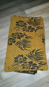 Antique Blanket Coverlet Homespun Fabric Woven Wool Early