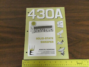 Weinschel 430a Solid State Sweeper Electronics Test Equipment Brochure