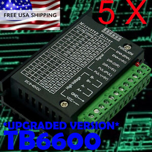 5x Tb6600 Stepper Motor Drivers upgraded Version 4 0a 42vdc