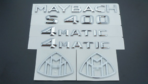 Chrome S400 Maybach 4 Matic Emblem Auto Front Badge For Mercedes Benz S