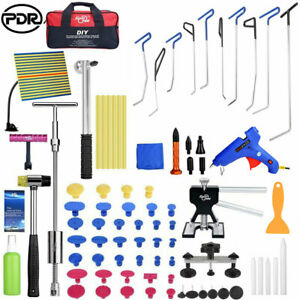 Pdr Push Rod Paintless Dent Ding Removal Puller Lifter Slide Hammer Repair Tools
