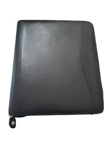 Day timer Leather Folio Planner black