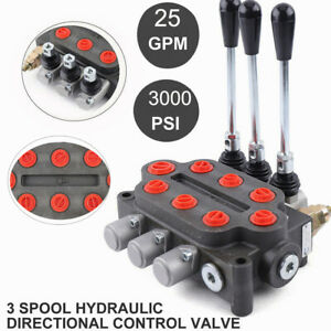 3spool Hydraulic Directional Control Valve Double Acting 25gpm Adjust Us Ship