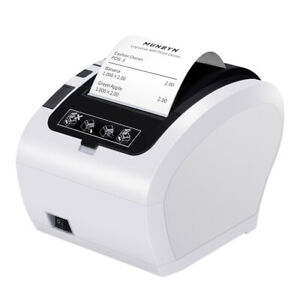 Us White 3 1 8 80mm Usb Ethernet Receipt Pos Thermal Printer With Auto Cutter