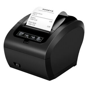 Us Black 3 1 8 80mm Usb Ethernet Receipt Pos Thermal Printer With Auto Cutter