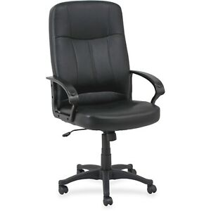 High back Upholstered Executive Office Swivel Chair Adjustable Seat height New