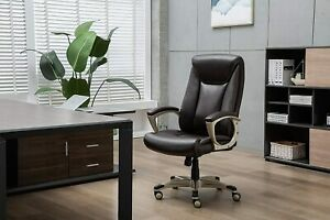 Bonded Leather Big Tall Executive Office Computer Desk Chair 350 pound Capaci