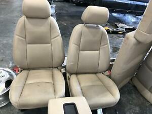 2008 2013 Gmc Sierra 3500 Denali Tan Leather Front rear Seats W console