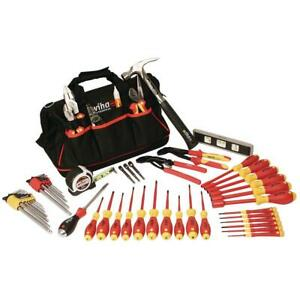 Wiha 59 Piece Insulated Master Electrician s Tools Set Electrical Tool Kit Bag