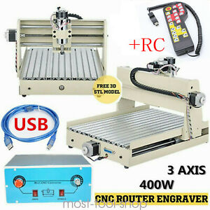 Cnc 3040 Router 3 Axis Wood Engraving Milling Cutting Machine 400w Engraver rc