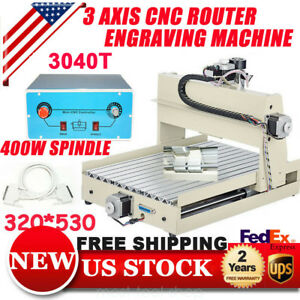 3 Axis Cnc Router 3040 Engraver Machine Milling Carving Drilling Desktop 3d New