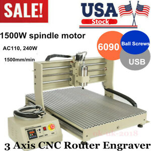 3axis Usb Cnc 6090 Router Engraver Machine Carving drilling mill Cut Woodworking