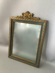 Antique Art Deco Vtg Carved Wood Gesso Gold Gilt Wall Picture Frame