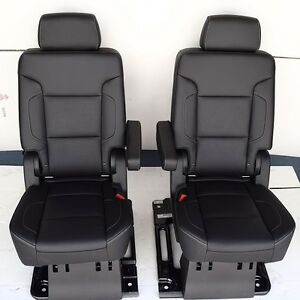 2016 2015 Suburban 2nd Row Bucket Seats In Black Leather